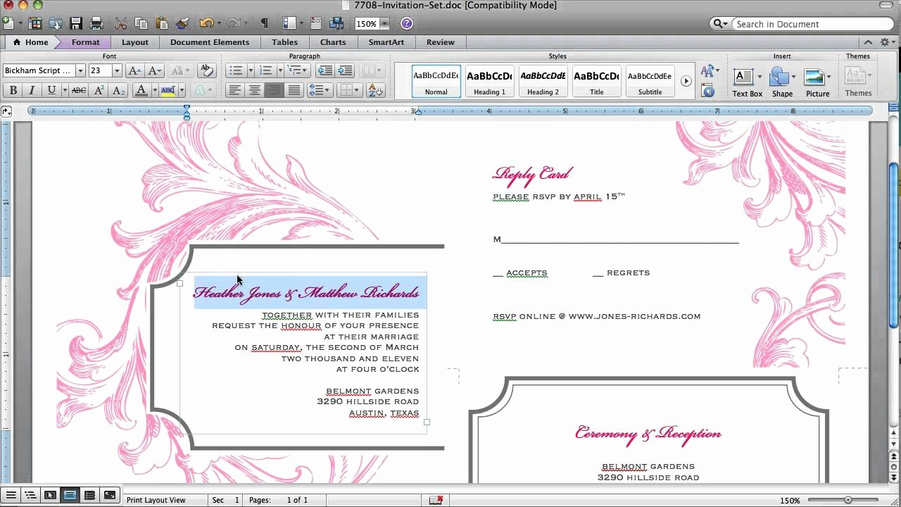 Stop Sign Template Microsoft Word Awesome How to Customize An Invitation Template In Microsoft Word