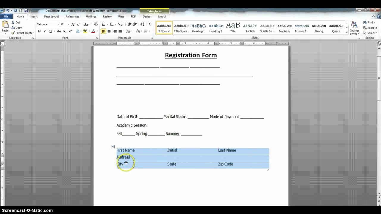 Stop Sign Template Microsoft Word Elegant How to Create A Fillable form Using Ms Word 2010 Part 1