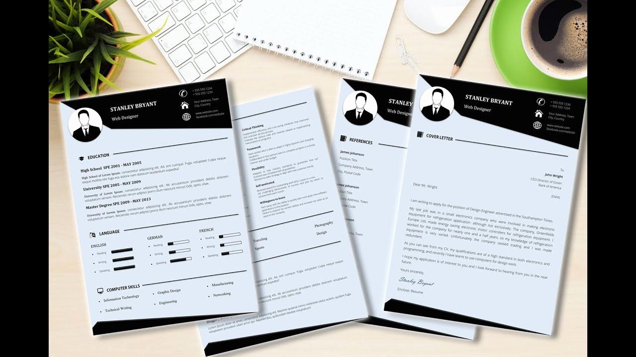 Stop Sign Template Microsoft Word Fresh Modern Cv Resume Template Made In Microsoft Word