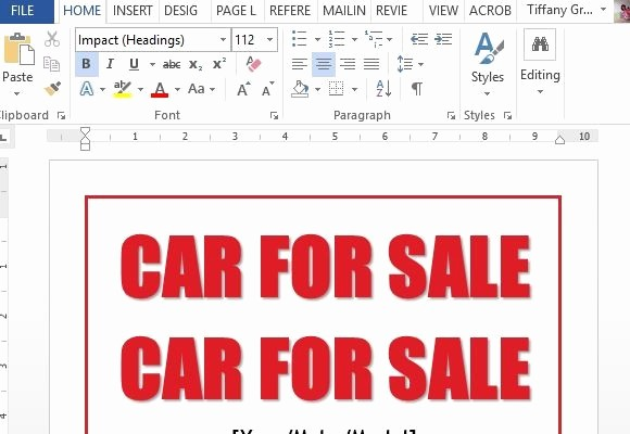 Stop Sign Template Microsoft Word Inspirational Beaufiful Car for Sale Template 12 Lovely S