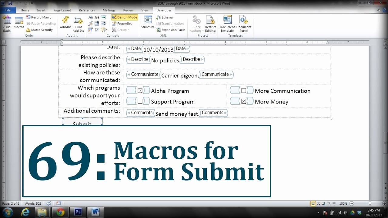 Stop Sign Template Microsoft Word New Microsoft Word Create A Submit form button