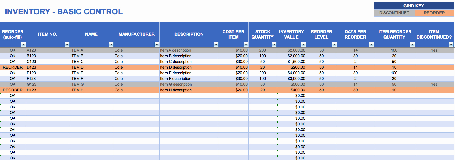 Store Inventory format In Excel Awesome Inventory Template Excel