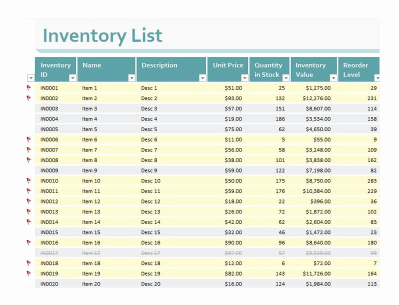 Store Inventory format In Excel Beautiful Inventory Excel Sheet