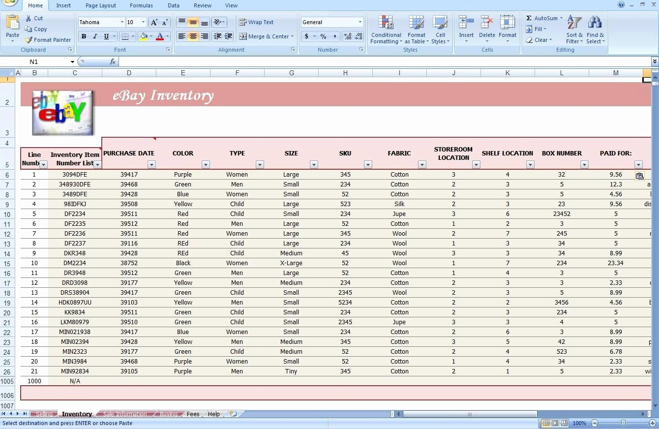 Store Inventory format In Excel Luxury Jewelry Inventory Spreadsheet Template Ebay Store