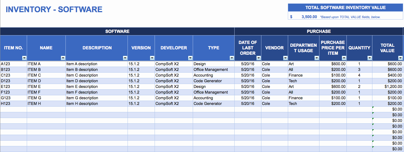 Store Inventory format In Excel Unique Free Excel Inventory Templates