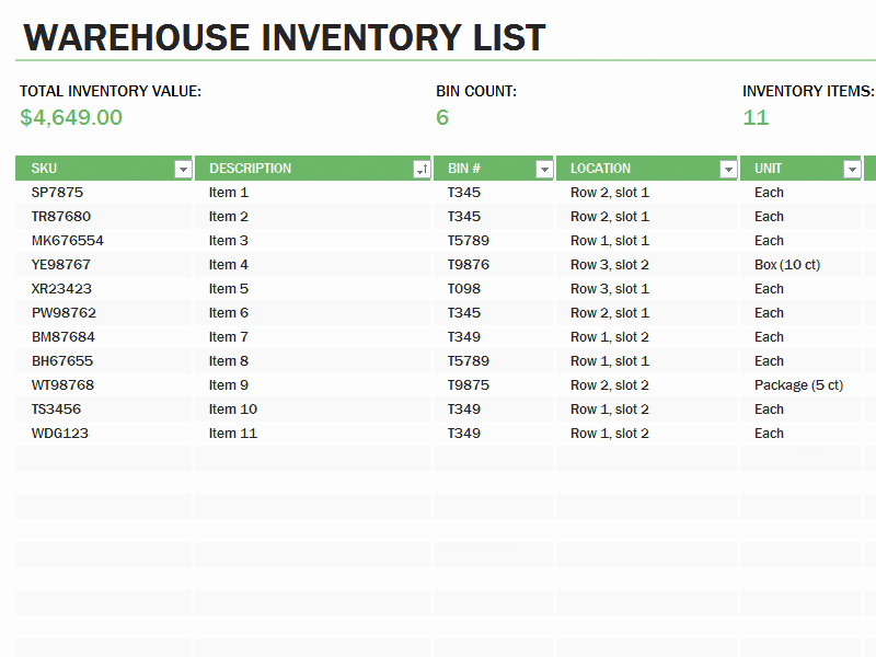 Store Inventory format In Excel Unique Microsoft Office Inventory Template Store Inventory Report