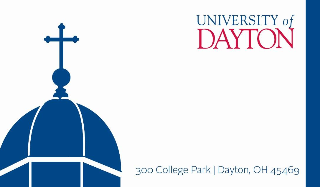 Student Business Cards Templates Free Beautiful Business Cards University Of Dayton Ohio