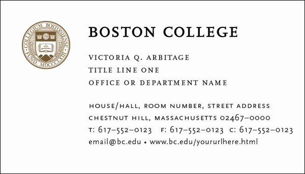 Student Business Cards Templates Free New College and Graduate Student Business Cards Template
