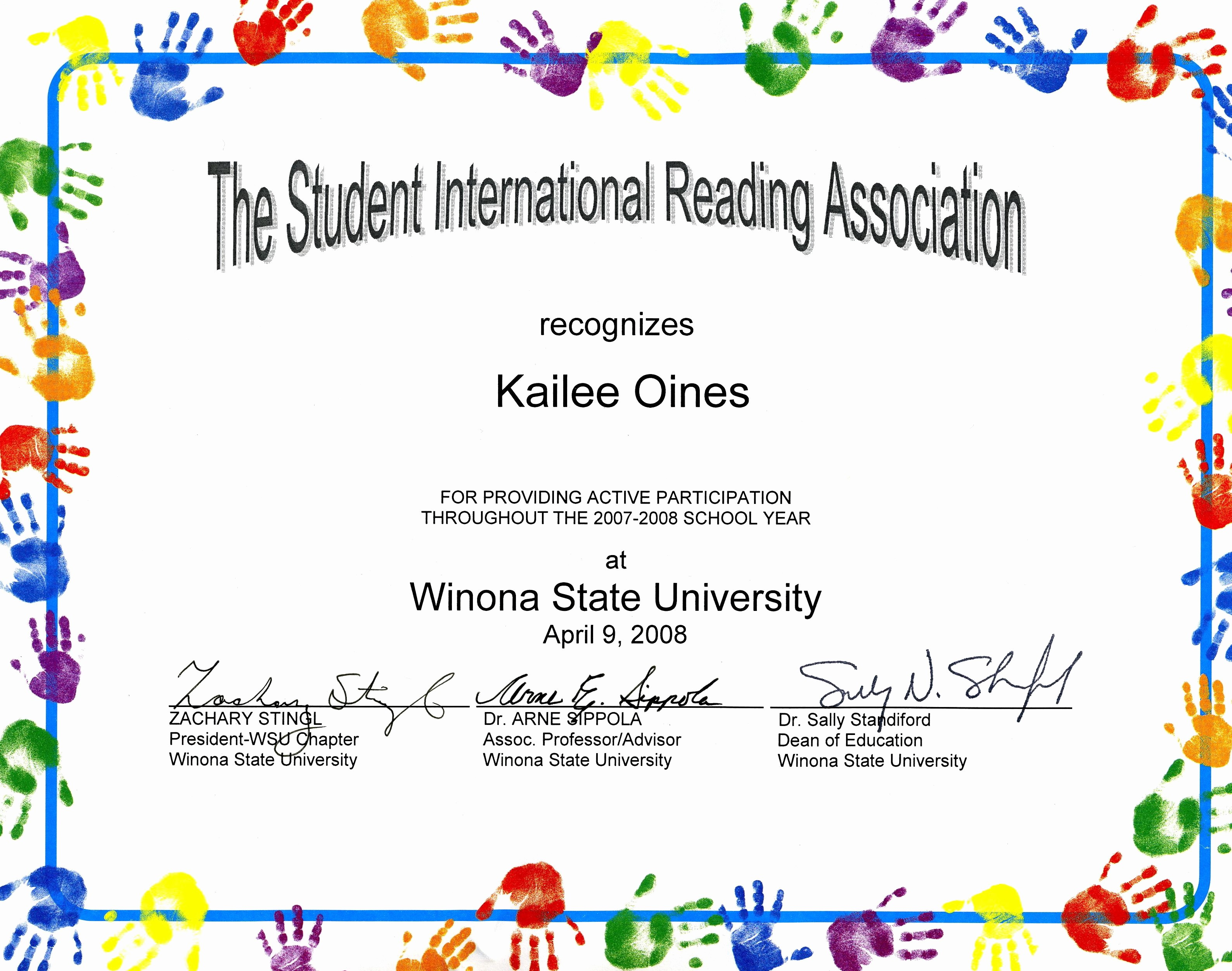 Student Certificate Template Google Docs Elegant Awards and Recognition