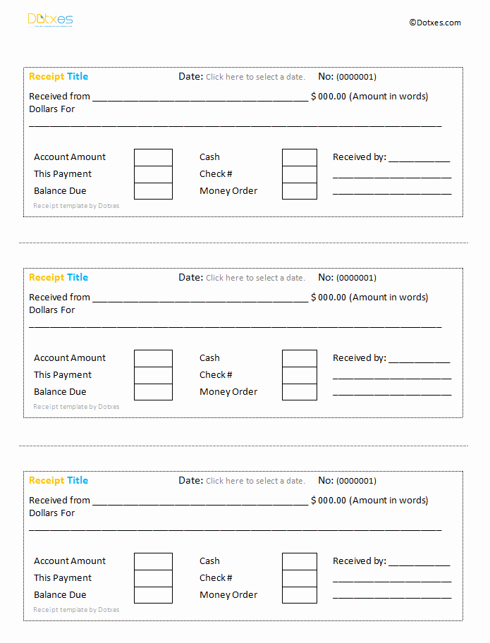 cash receipt template google docs 839