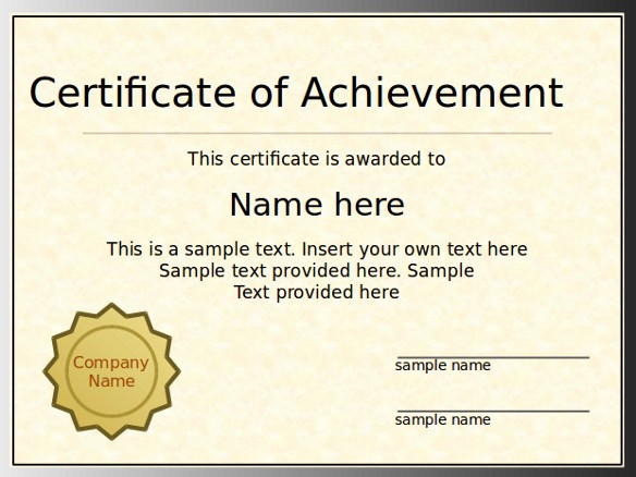 Student Council Award Certificate Template Awesome Student Council Certificate Template Powerpoint