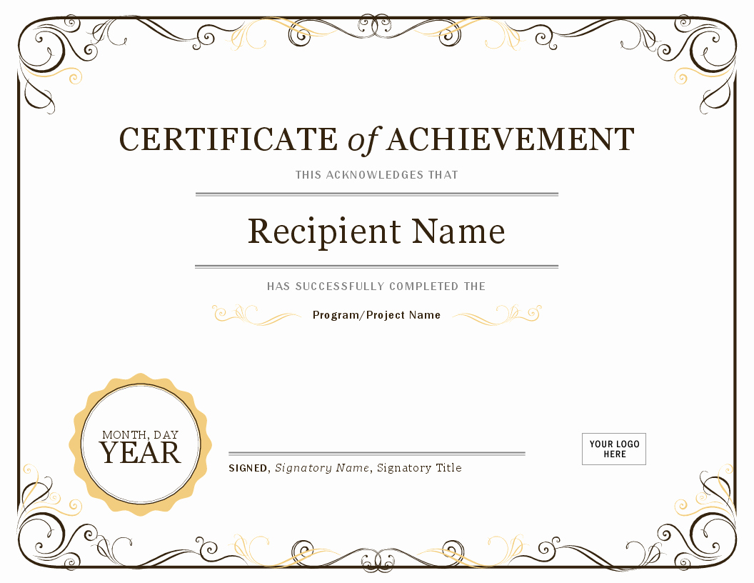 Student Council Award Certificate Template Best Of Certificates Fice