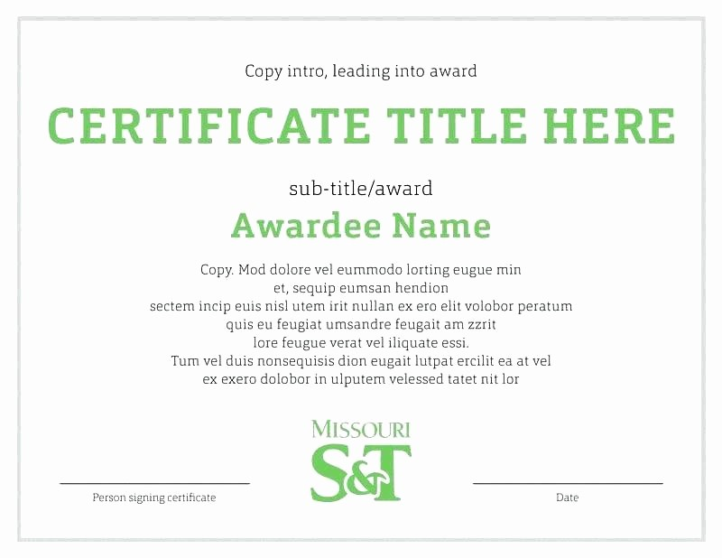 Student Council Award Certificate Template Best Of Student Certificate Template Reading Award Certificate