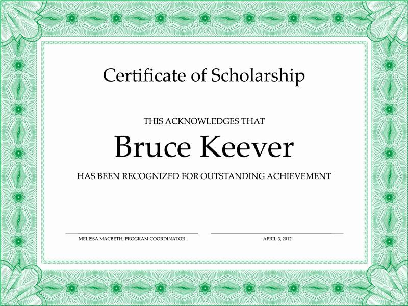 Student Council Award Certificate Template Elegant Certificate Templates
