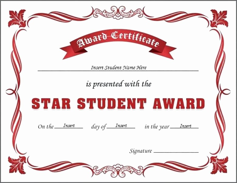 Student Council Award Certificate Template Elegant Free Printable Student Award Certificate Template Happy