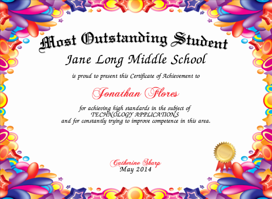 Student Council Award Certificate Template Elegant Free Printable Student Council Certificate