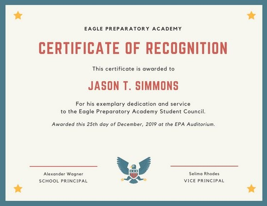 Student Council Award Certificate Template Fresh Customize 90 Student Certificate Templates Online Canva
