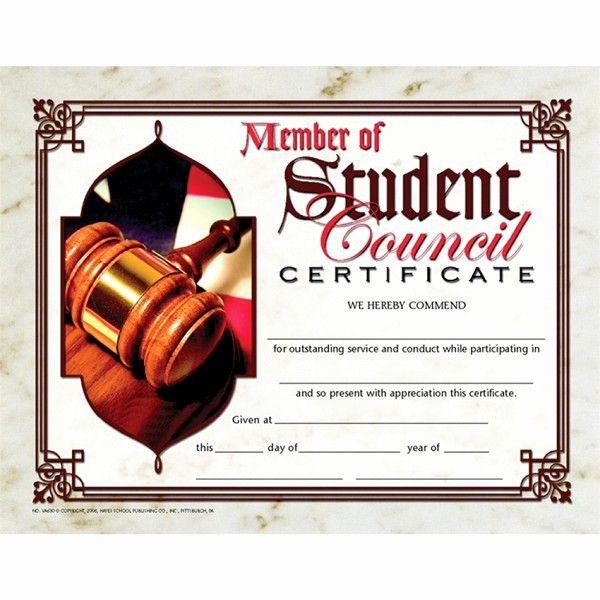 Student Council Award Certificate Template Fresh Student Council Award Certificate Template 82 Free