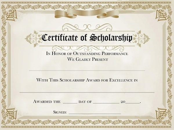 Student Council Award Certificate Template Fresh Student Council Award Certificate Template 82 Free