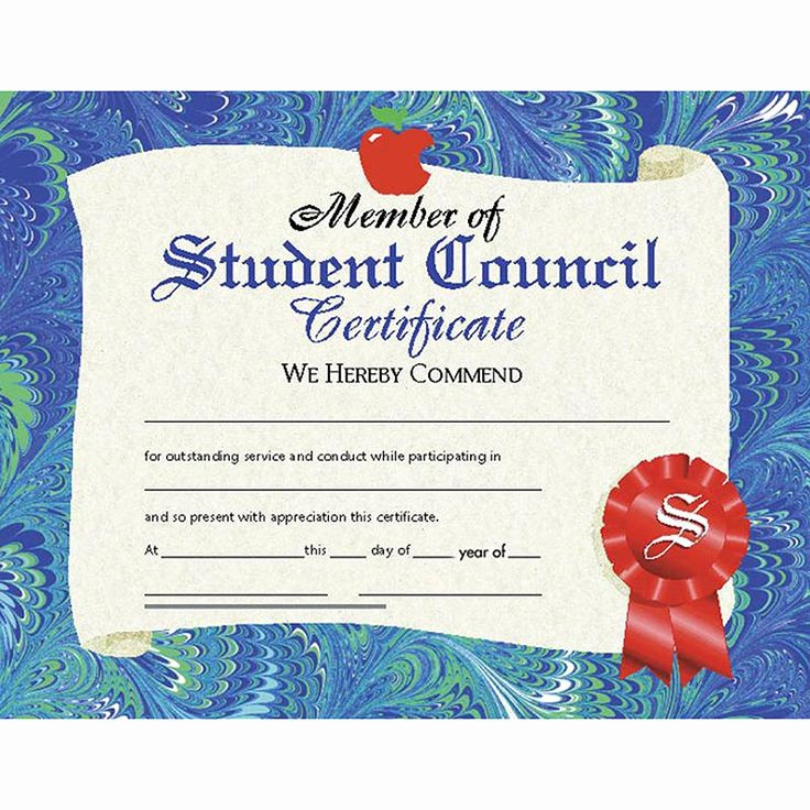 Student Council Award Certificate Template Lovely Best 25 Award Certificates Ideas On Pinterest