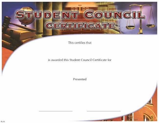 Student Council Award Certificate Template Unique Fill In the Blank Certificates – Page 2 – Wilson Awards