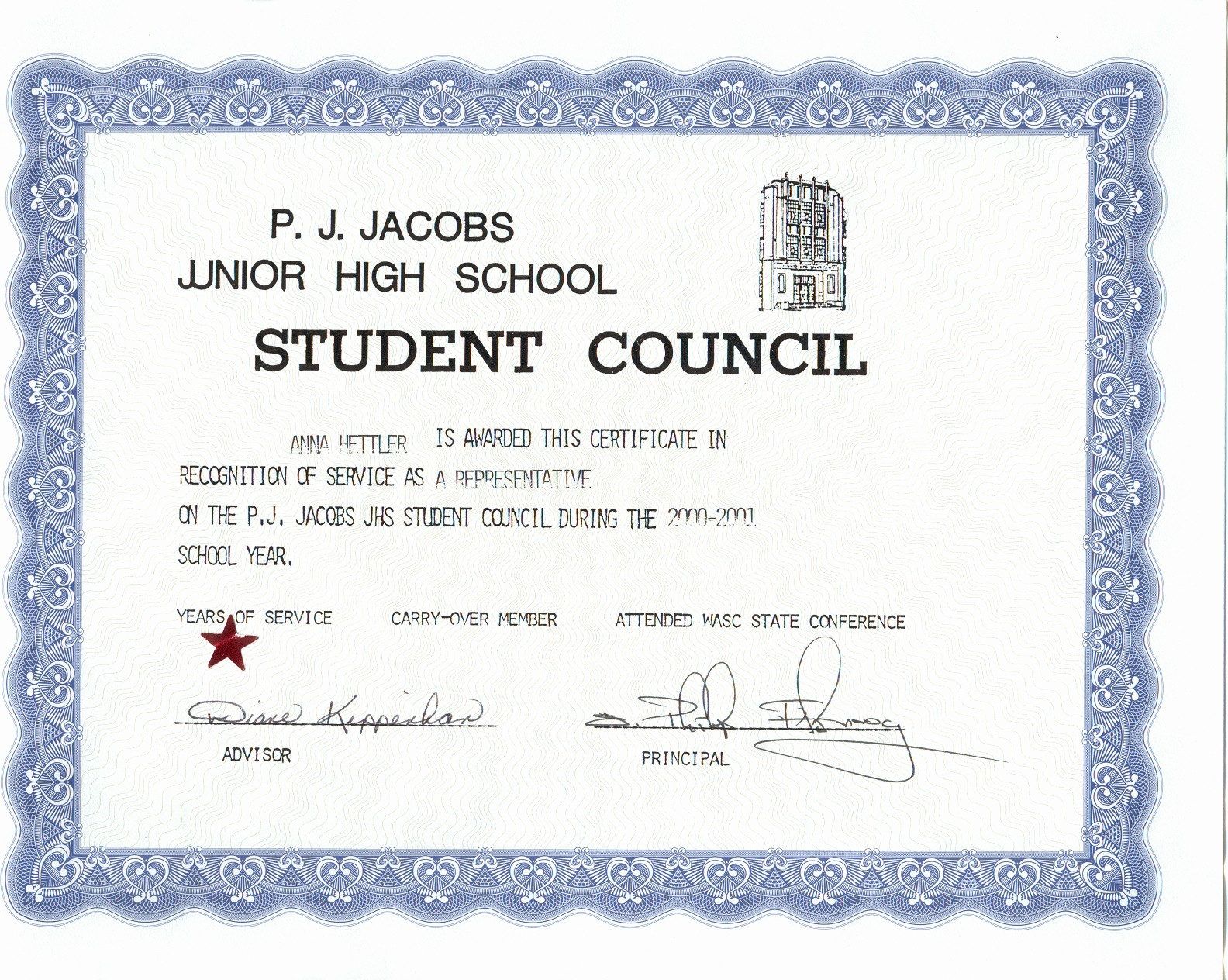 Student Council Award Certificate Template Unique Student Council Award Certificates Christopherbathum