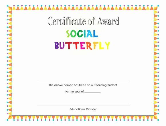 Student Council Certificate Template Free Beautiful Printable Certificate Template A Graduation Award Student
