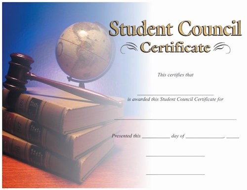 Student Council Certificate Template Free Best Of Student Council Image Certificate – Wilson Awards