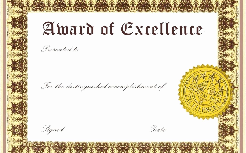 Student Council Certificate Template Free Inspirational Template attendance Award Certificate Template