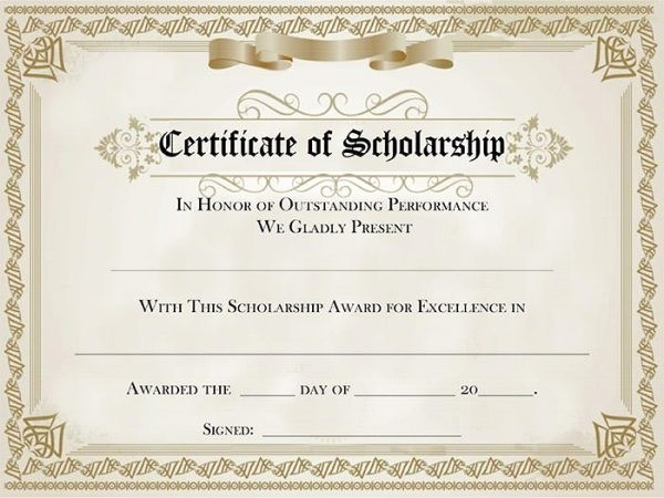 Student Council Certificate Template Free Lovely Understanding Award Certificate Templates