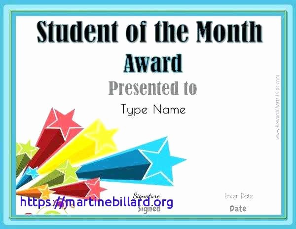 Student Council Certificate Template Free Luxury Student Award Certificates to Printable
