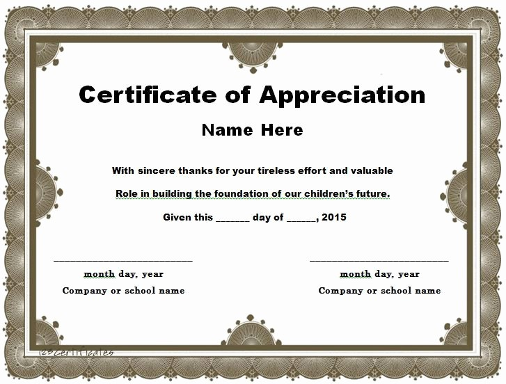 Student Council Certificate Template Free Unique 30 Free Certificate Of Appreciation Templates and Letters