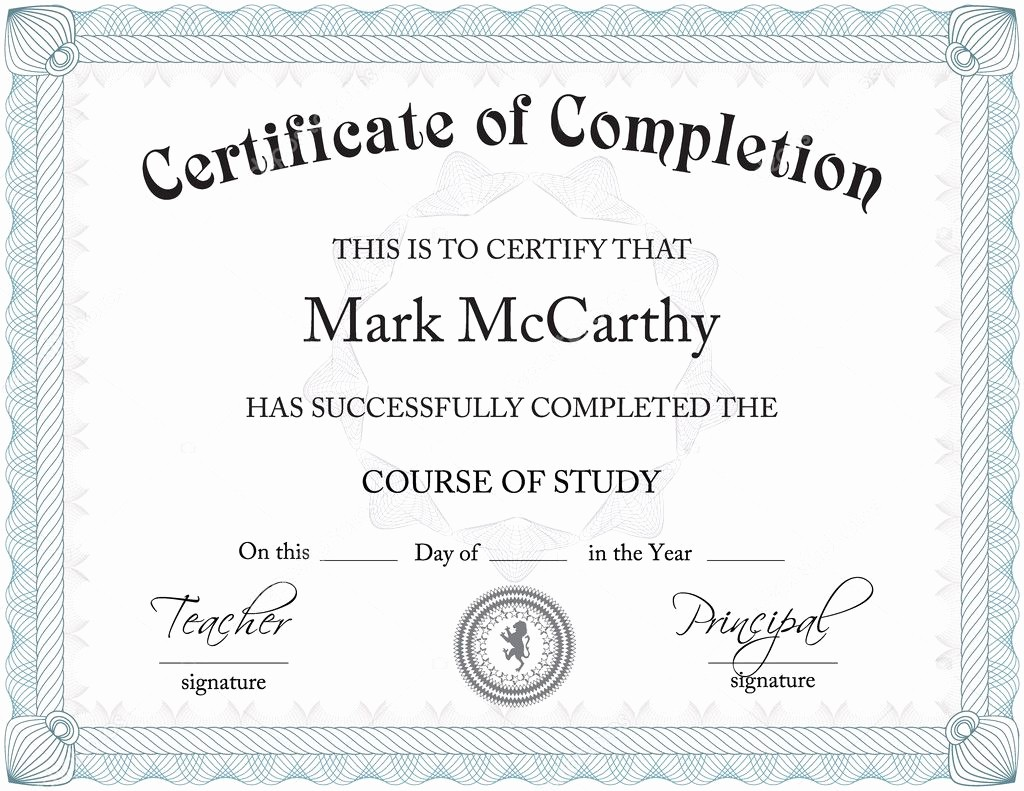 Student Council Certificate Template Free Unique Certificate — Stock Vector © Zarja