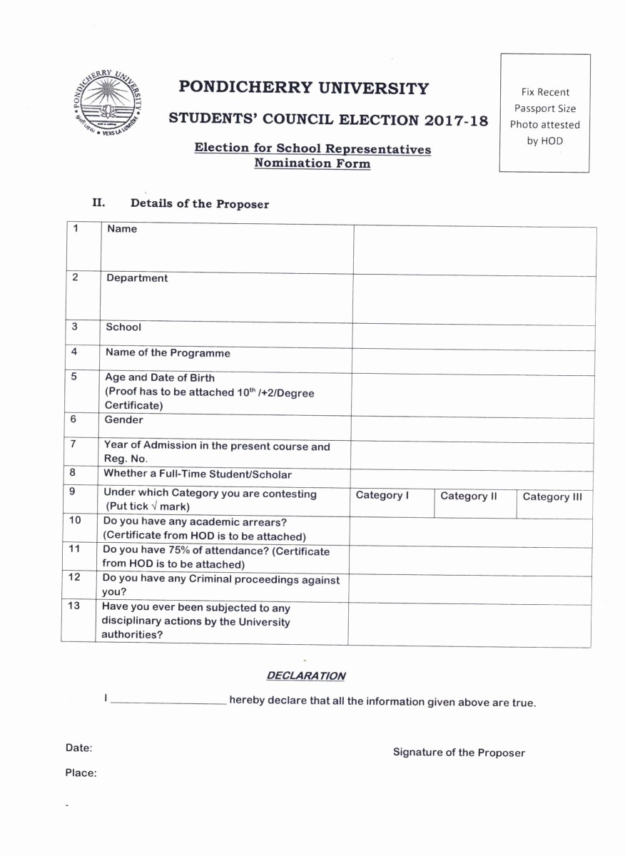Student Council Certificate Template Free Unique Students' Council Election 2017 18