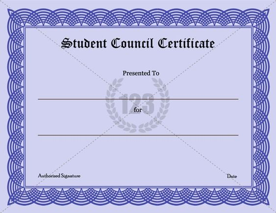 Student Council Certificate Template Free Unique Templates Student and Student Council On Pinterest