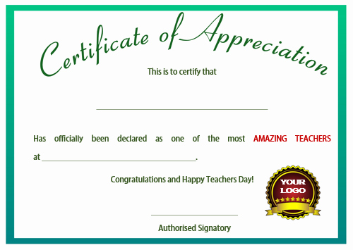 Student Of the Day Certificate Awesome 11 Printable Certificates Of Appreciation for Teachers