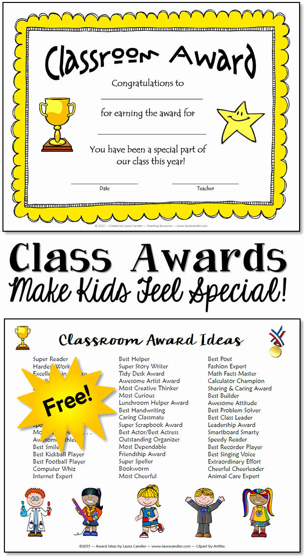 Student Of the Day Certificate Awesome Classroom Awards Make Kids Feel Special
