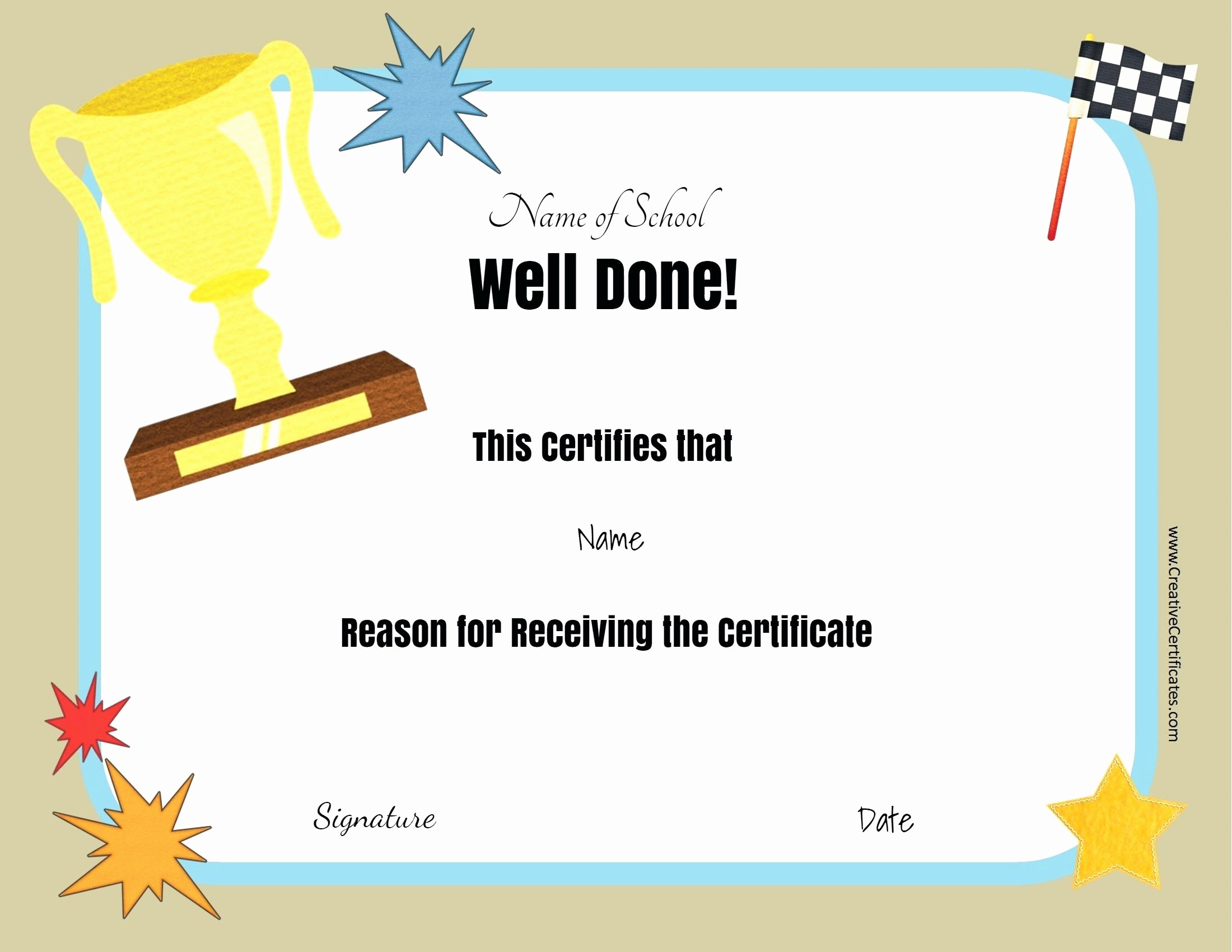 Student Of the Day Certificate Awesome Template Player the Day Certificate Template