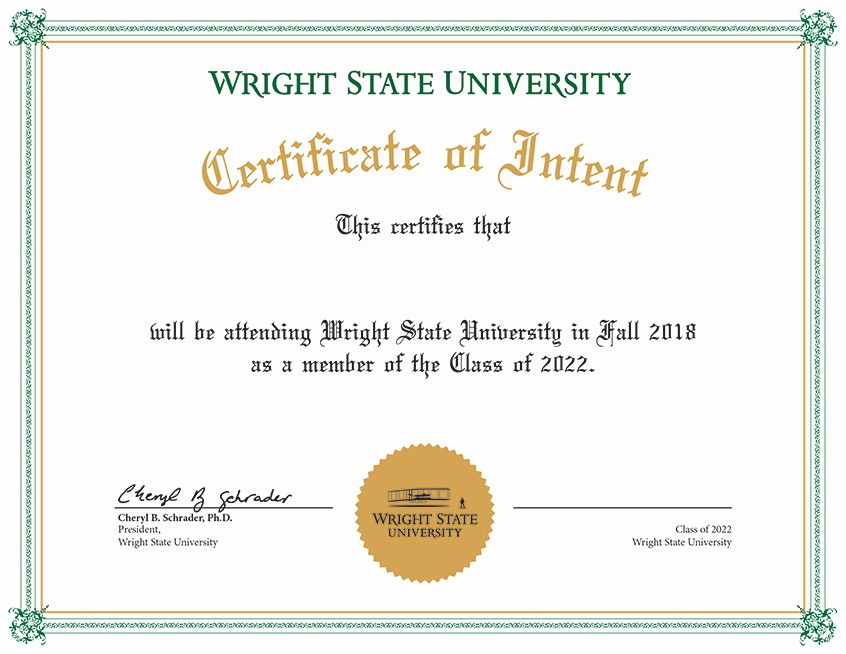 Student Of the Day Certificate Elegant Admitted Students