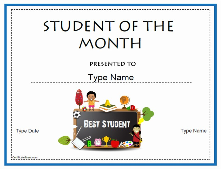 Student Of the Day Certificate Elegant Certificate Street Free Award Certificate Templates No