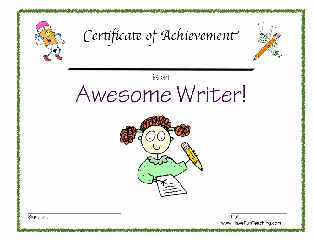 Student Of the Day Certificate Elegant Student Of the Week Awards