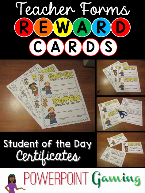 Student Of the Day Certificate Fresh Teacher forms Student Of the Day Reward Certificate