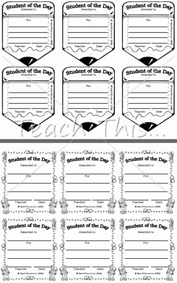 Student Of the Day Certificate Inspirational 1000 Ideas About Student Awards On Pinterest