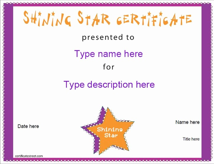 Student Of the Day Certificate Luxury Free Certificate Templates Education Certificate Shining