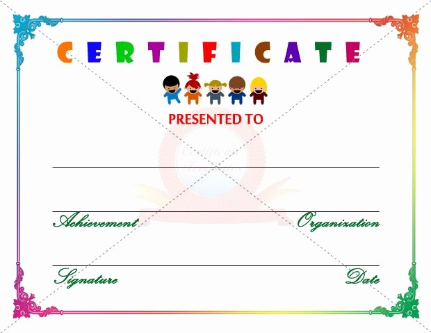 Student Of the Day Certificate New Kids Certificate Template