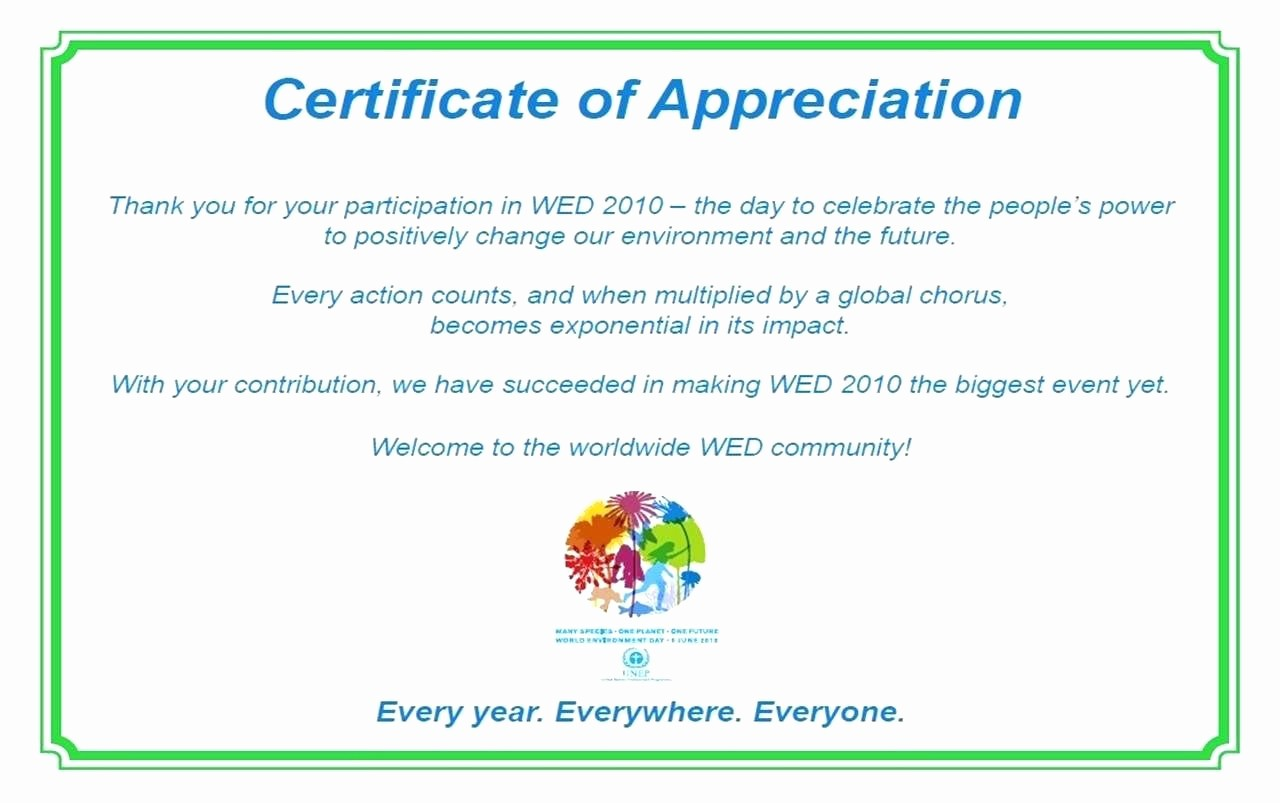18 appreciation certificates wording