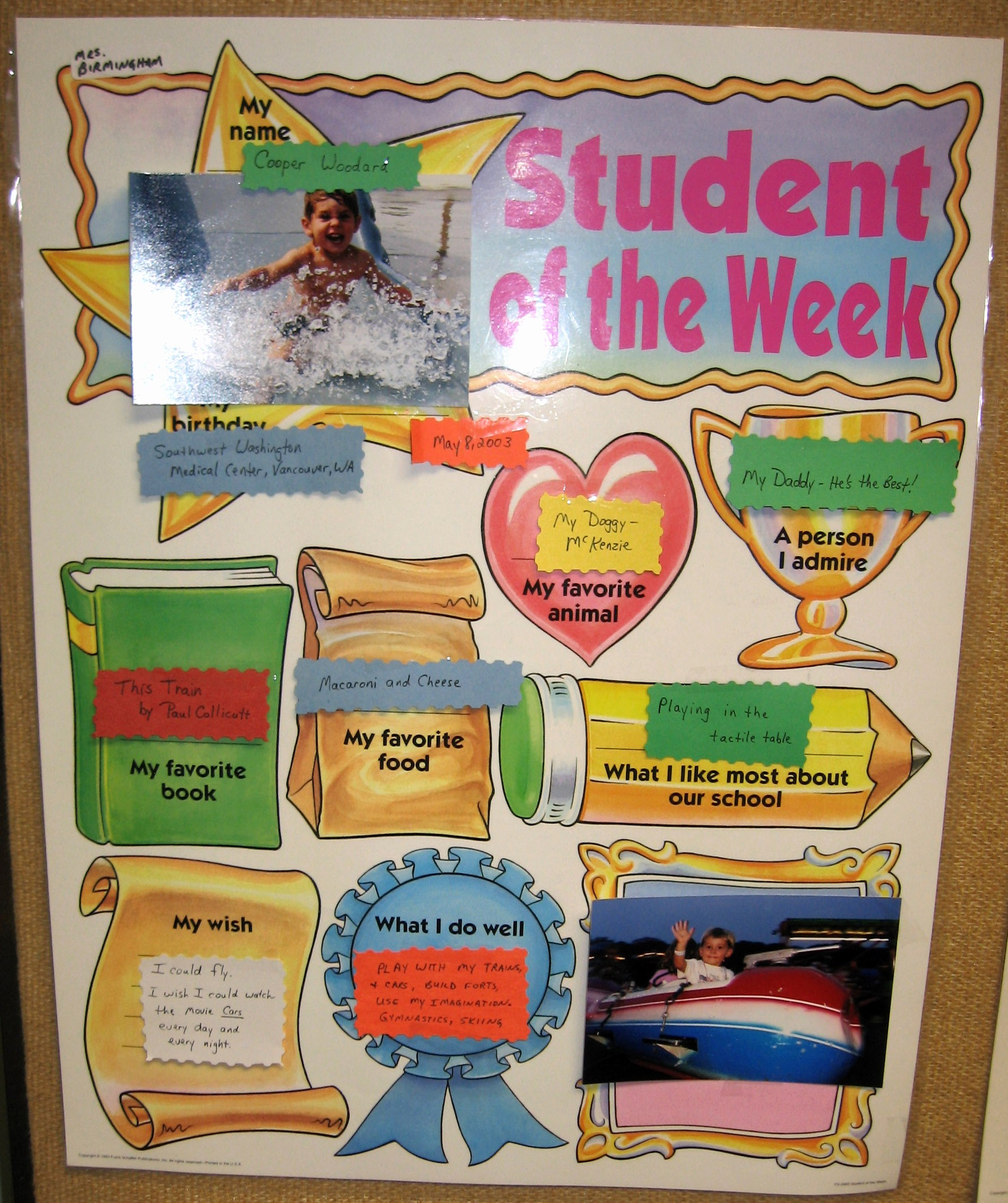 Student Of the Month Banner Elegant Cooper Woodard Photos 2007 11 March