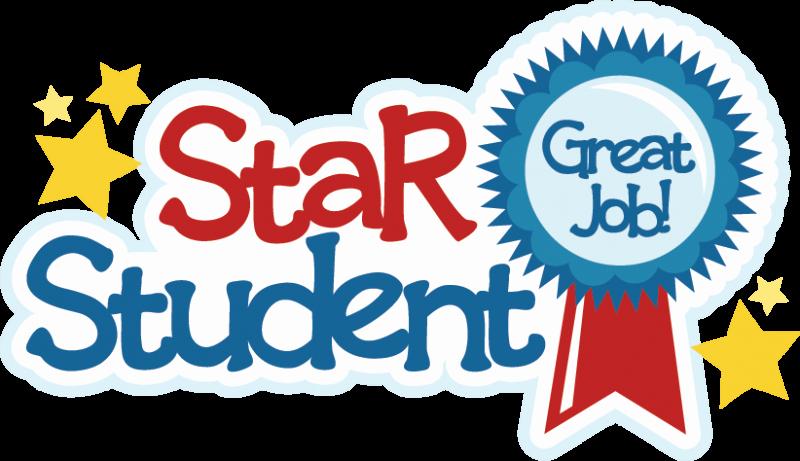 Student Of the Month Banner Elegant Star Student Svg Scrapbook Title School Svg File Svg Cut