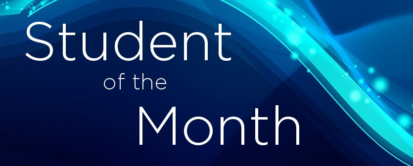 Student Of the Month Banner Elegant Student Of the Month