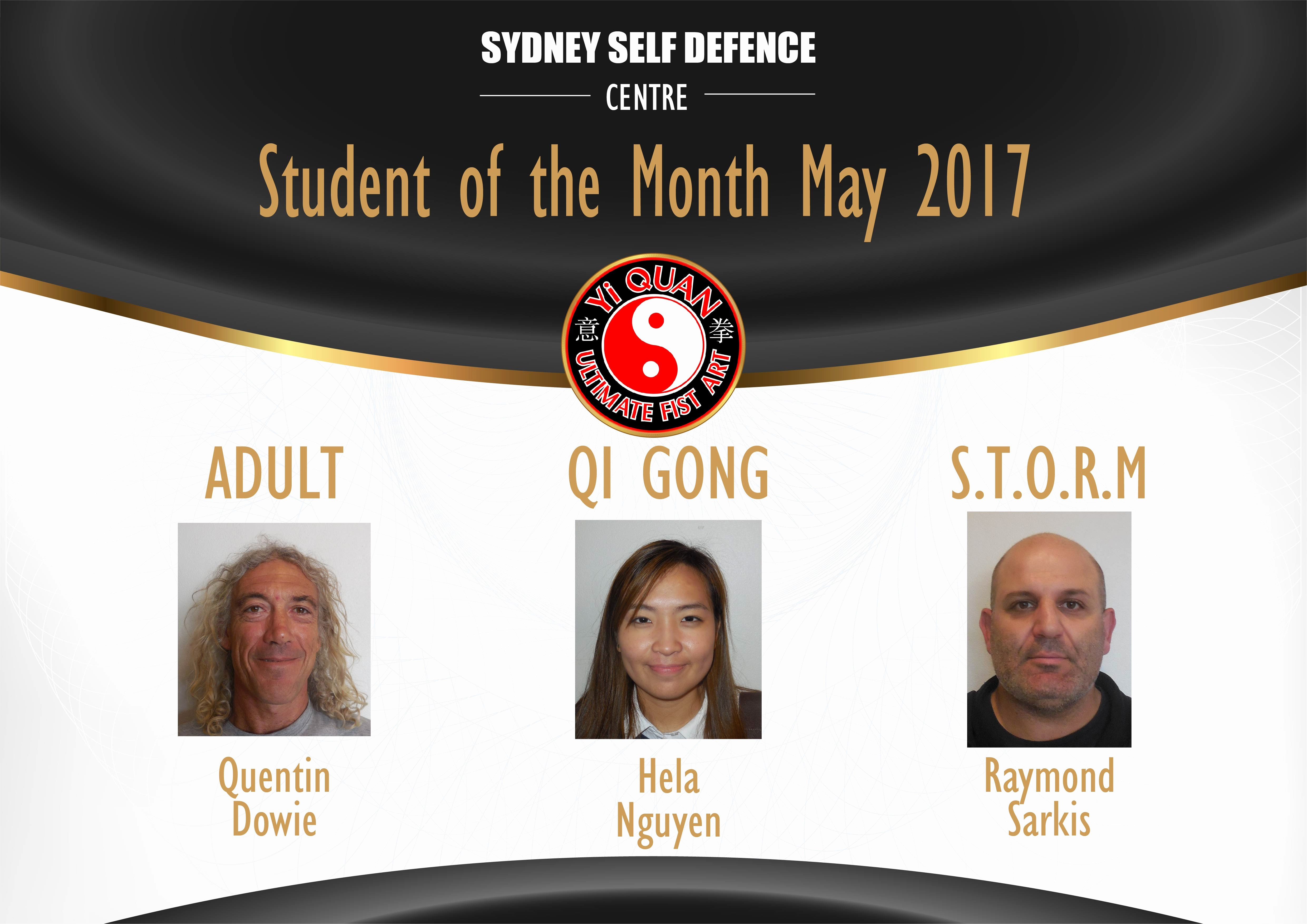 Student Of the Month Banner Fresh Students Of the Month May Sydney Self Defence Centre